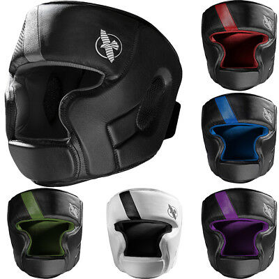 Hayabusa T3 Full Face T-Cross Hook and Loop Closure Vylar Leather MMA Headgear
