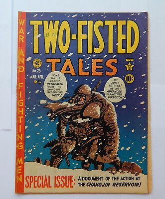 Two-Fisted Tales Special Issue Changjin Reservoir #26 by EC (Mar-Apr 1952) GD