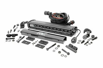 """Rough Country - 70712BL - 12"""" Black Series Single Row CREE LED Light Bar for ..."""
