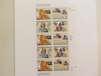 Us Mnh 2779 - 2782A National Postal Museum 1993 P/Block Of 10  .29 Cent Stamps