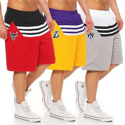 adidas Bulls, Lakers, Nets NBA Team Basketball Shorts Kurze Hose