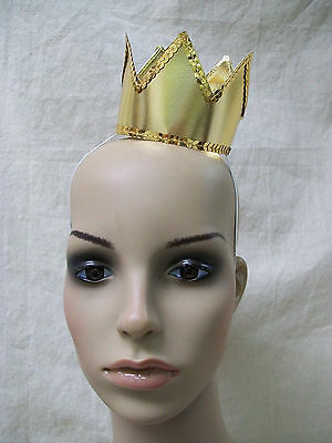 Mini Gold Crown Midas Red Queen Majesty King Your Highness Medieval Renaissance