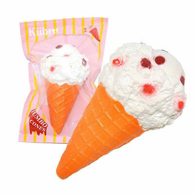 Soft White Cone Squishy Super Slow Rising Scented Ice Cream Food Kid Toy Gift