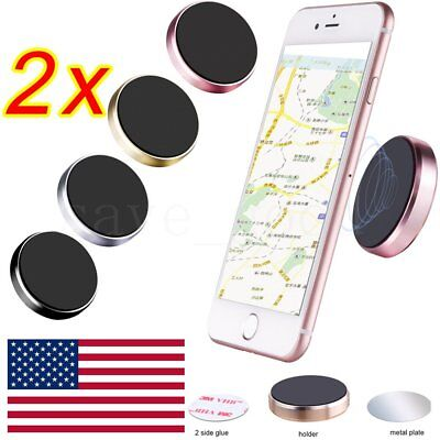 2Pk Car Mount Magnetic Air Vent Stand GPS Cell Phone Holder iPhone 8 7 Plus 6S 5