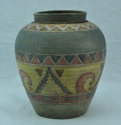 "Antique South American vase 9"" tall, probably Pre-Columbian. (BI#MK/TMP)"