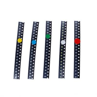 100 Pcs SMD 0805 5 Colors LED Light Red Green Blue Yellow White Assotment Kit