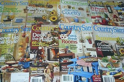 Lot of 8 Issues Country Sampler Craft Magazine 2009 2010 2013