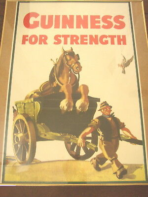 Guinness For Strength Poster, Cart and Horse, large