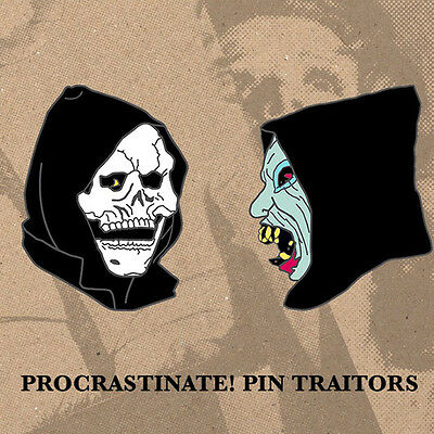 Brand New The Devil and God are Raging Enamel Pin Set Lapel Jesse Lacey New