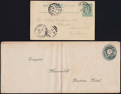 NATAL South Africa 1904/05 QV+ KEVII GS rare POA cancels trappist missions L@@K!