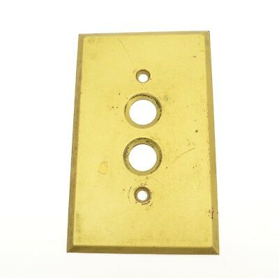 Vintage Antique Brass SWITCH COVER for Push-Button Light Switch with Patina