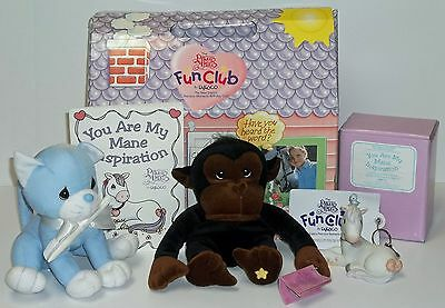 Precious Moments 1999 Fun Club, Horse Fig. + Tender Tails Monkey Limited & Cat