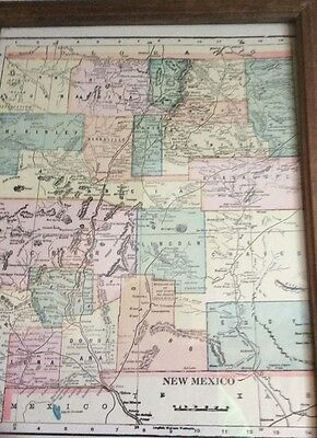 Antique  Map Of New Mexico -- 1898   Elpaso & North Eastern Rr.
