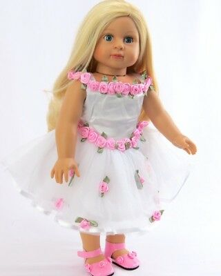 "Pretty Roses Dress for American Girl 18"" Doll Clothes from the Trusted Lovvbugg!"