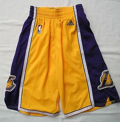Boys NBA Adidas LAKERS BASKETBALL Shorts Size XS - Size 6 - 8 - NEW