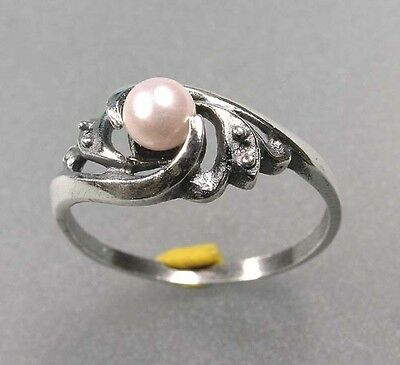 925 Silver Ring with pearls a8-01034