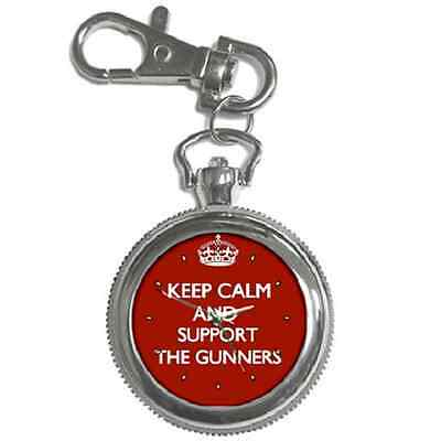 Keep Calm & Support Your Football Team Club Keychain Watch - Great Gift Item