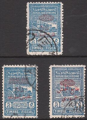 Middle East 1945 #t422 #t424 #t425 Used Timbre Fiscal Postage Due Stamp S