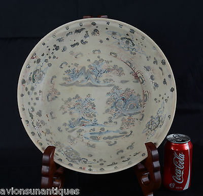 Hoi An Hoard Ming Dynasty Charger Red Green Blue Glaze Landscape Chinese c1450