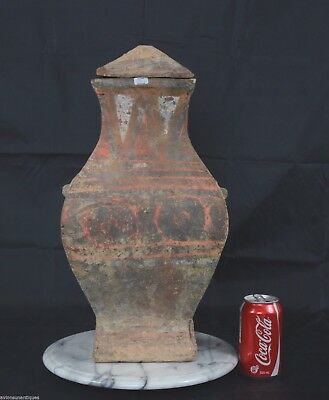 Han Dynasty Lidded Fang Hu Vessel Jar 2000 Years old!
