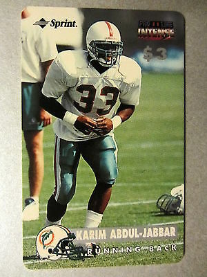 Phonecard Telefonkarte USA Football Running Back KARIM ABDUL-JABBAR Not sratched