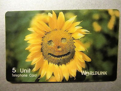"Limited Edition Phonecard Worldlink ""Sunflower"" 398/1000 Telefonkarte Amerika US"