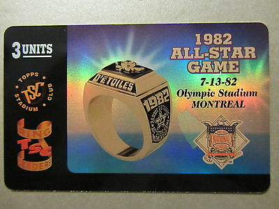 Phone Card Telefonkarte 1982 All Star Game Ring Amerika Olympic Stadium Montreal
