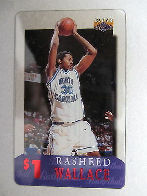 1$ Telefonkarte Phonecard USA Basketball League Spieler Player RASHEED WALLACE