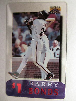 1$ Telefonkarte Phone-Card USA Major League Baseball Spieler Player BARRY BONDS