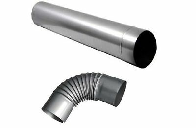Stove Pipe 1 Metre - Pipe Bends / Chimney Pipe Steel DIFFERENT SIZES AS Defect
