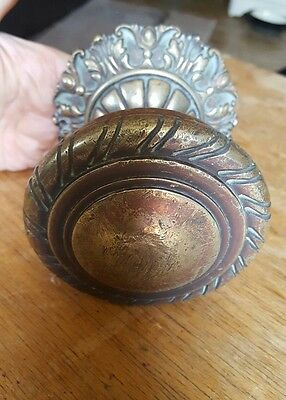Large Old brass door pull