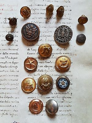 RARE ANCIENT LOT BUTTONS : MIXED Buttons - Military and others - Special !!!