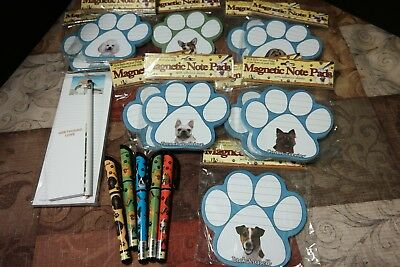 16 pc lot of Purebreed Dog Themed NotePads and Pens