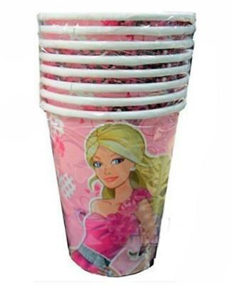 Barbie Fashionista Birthday Party 9 oz Hot or Cold Paper Cups 8 Per Package NEW