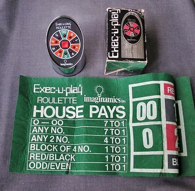 Vintage Exec-U-Play Imaginamics Electronic Roulette Game W/ Layout & Box  Works