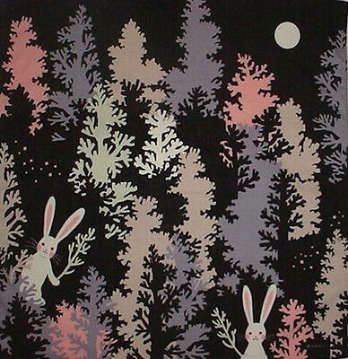 Furoshiki Wrapping Cloth Japanese Fabric 'Rabbits in the Trees' Cotton 50cm