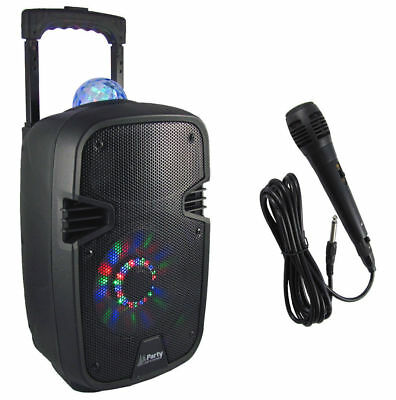 "Mobile Akku Sound Anlage ""PARTY-7ASTRO"" Bluetooth USB MP3 Radio Mikro Karaoke!"