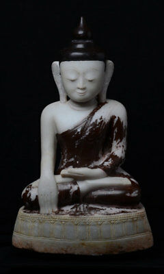 Early 16th Century, Early Shan, Antique Burmese Alabaster Seated Buddha