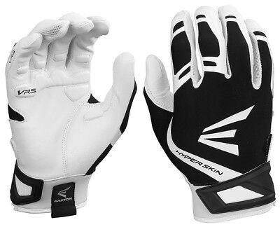 1pr Easton ZF7 VRS Hyperskin Womens Medium White/Black Fastpitch Batting Gloves