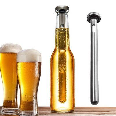 Stainless Steel Beer Chiller Stick With Pourer Beer Cooler Beverage Cooling Rod