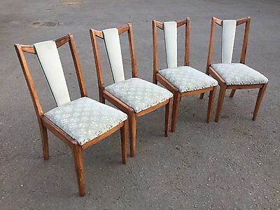 Set Of 4 Unusual Art Deco Dining Chairs (7433)