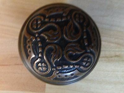 Antique Vintage Cast Brass Victorian Ornate Doorknob Part