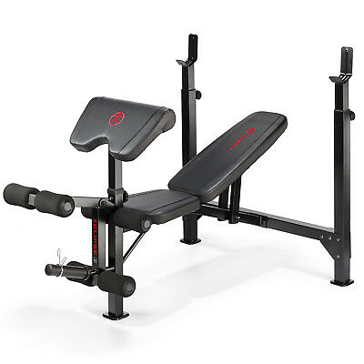 Marcy Eclipse BE5000 Olympic Weight Bench Press & Rack - Incline, Decline, Flat