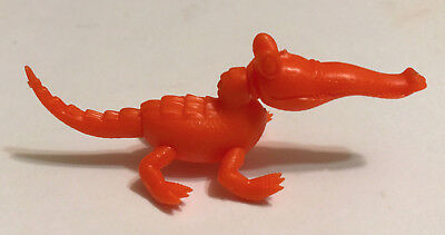 R&l 1973 Cereal Toy ~ Zany Zoo Animads Crocodile ~ Orange, Rare Aussie Kelloggs