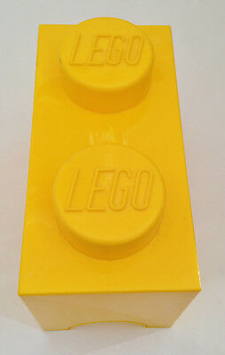 Official Lego Yellow 2 Stud Storage Brick Box Container