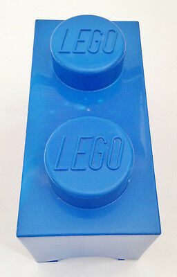 Official Lego Blue 2 Stud Storage Brick Box Container