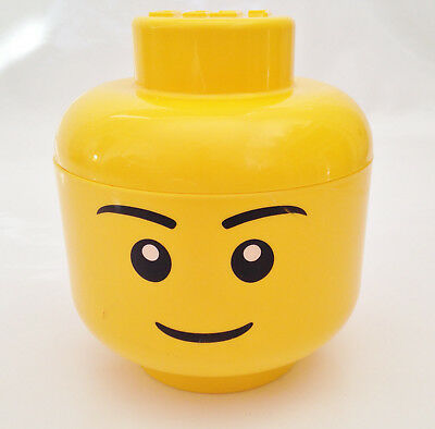 Official Lego Small Yellow Storage Head Container Box Tub