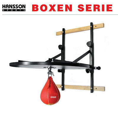 HANSSON.SPORTS Boxen Punchingball Speedball Set PRO verstellbare Plattform