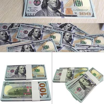 100 Bills Best Novelty Movie Prop Play Fake Money Joke Prank Not Tender QE