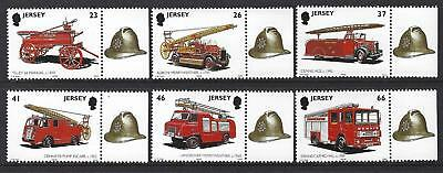 Jersey 2001 Fire Engines Unmounted Mint, Mnh Marginals